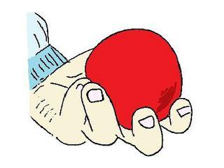 fangen - Hand, halten, rund, Kugel, Ball, Finger, festhalten, Verb, Illustration, Zeichnung, Wortschatz, Wortbedeutung, fangen, geben, nehmen, reichen