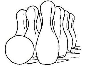 Bowling / Kegeln - Kegeln, Bowling, bowlen, kegeln, Sport, Kegel, Ball, Kugel, Pins, Illustration, Sportart, Verb, WM, EM, Meisterschaft, spielen, Spiel, Freizeit, bewegen, Bewegung