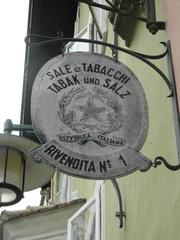 Tabak und Salz - Südtirol, Ausleger, deutsch, italienisch, Tabak, tabacchi, Salz, sale