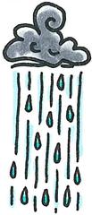 Regenwolke - Wolke, Regenwolke, Regen, abregnen, nass, Nässe, Tief, Regenschirm, weitermalen, weiterzeichen, Weitermalbild, Herbst, Sturm, Unwetter