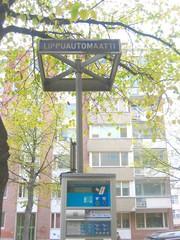 Parkscheinautomat - Verkehr, Parkschein, Technik, Sprachen, Finnisch, parken, Parkscheinautomat, Straßenverkehr, Schild