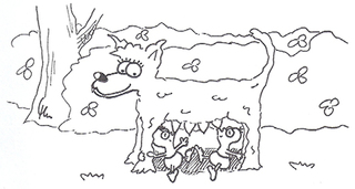 Romulus & Remus & die Wölfin - Romulus, Remus, Wolf, Wölfin, Rom, Gründung Roms, 753, Tiber, Rhea, Mars, Legende, Schäfer, Comic, Cartoon, Illustration, Ausmalbild