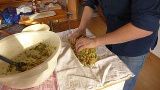 Serviettenknödel  #2 - Serviettenknödel, Knödel, Serviette, kochen, Serviettenklöße, Beilage, Mehlspeise, Teigmasse