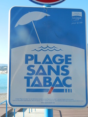 Plage sans tabac - Frankreich, civilisation, plage, Strand, tabac, Tabak, Zigaretten, Schild, panneau