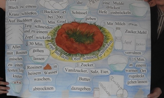 Osterkuchenrezeptpräsentation - Ostern, Osterkuchenrezept, Plakaterstellung, Projekt, Präsentation