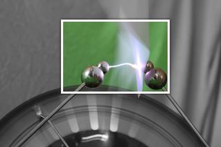 Blitz der Influenzmaschine - Influenz, Blitz, Physik, elektrische Ladung, Strom, Elektrizität
