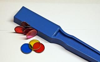 Stabmagnet - Magnet, Magnetismus, magnetisch, Anziehung, Stabmagnet, Anlaut M, blau, Physik, anziehen, abstoßen, Pol, Polgesetz