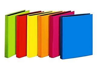 farbige Aktenordner - Ordner, Hefter, Mappe, Kunststoff, farbig, sechs, Ordnung, Schriftgutbehälter, sammeln, ordnen, Akten, Akte
