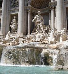 Trevi-Brunnen - Italien, Rom, Sehenswürdigkeit, Trevibrunnen, Brunnen, Wasser, Fontana di Trevi, spätbarock, Fontana, Trevi, Wasser, Skulptur, Marmor, Plastik
