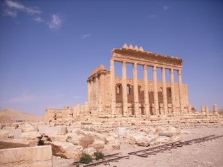 Baaltempel Palmyra - Baaltempel, Palmyra, Oasenstadt, Syrien, Zenobia, römische Antike, Römischer TempelSakralbau, Antikes Heiligtum, Ruine Palmyra