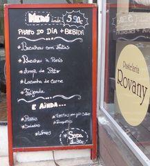 Hinweistafel: Speisekarte einer Pasteleria - Hinweistafel, Speisekarte, prato do dia, bebida