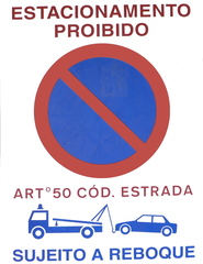 Verkehrsschild #3 - Estaconamento, proibido, reboque