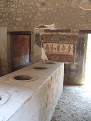Verkaufstheke in Pompeji - Pompeji, Antike, Bäckerei, Fresken, Italien, Rom, Römer, Ruinen, Vesuv