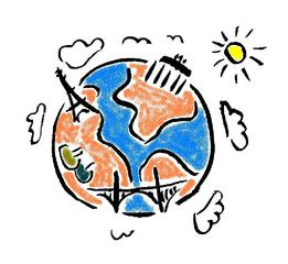 Symbol Weltkugel - Welt, Erdkunde, Symbol, Icon, Erde, Erdkugel, Weltkugel, Illustration, Globus, Geografie