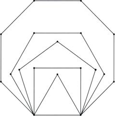 Schablone für Parkettierungsaufgaben - Mathematik, Parkettierung, Geometrie, Schablone regelmäßige n-Ecke, Vieleck