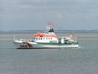 Seenotrettungskreuzer - Seenotrettungskreuzer, Nordsee, Insel Amrum, Schiff, Boot, Seenot, Rettung, Rettungsschiff, Meer, SAR, Schreibanlass