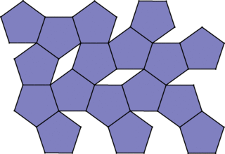 Muster von regelmäßigen Fünfecken - Mathematik, Geometrie, Parkettierung, regelmäßige n-Ecke, Fünfeck