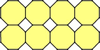Muster von regelmäßigen Achtecken - Mathematik, Geometrie, Parkettierung, regelmäßige n-Ecke, Achteck