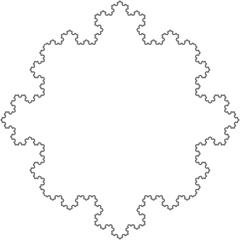Kochkurve - Mathematik, Folgen, Reihen, Grenzwert, Iteration, Rekursion