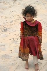 Beduinenmädchen - Kind, Tracht, Jemen, Kleidung, arabische Länder, Wüstenbewohner, Araber, Islam