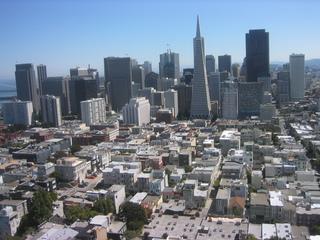 Blick auf San Francisco - USA, San Francisco, Großstadt, Wolkenkratzer, Gebäude, Skyline, Architektur