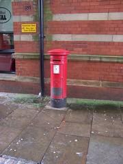 Englischer Briefkasten - Briefkasten, englisch, rot, Pillarbox, Letterbox, rund
