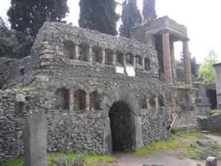 Pompeji - Ruine - Straße, Ruine, Antike, Ruinen, Italien, Pompeji, alt, Vesuv, Römer, Totenstadt, Grabbau, Grabanlage, Grab