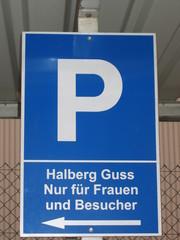 Verkehrsschild - Verkehrsschild, Parkplatz, parken, Erlaubnis, blau, lustig, Wortwitz