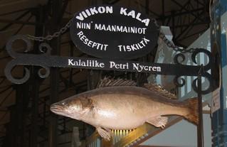 Fischstand - Schild, Fisch, Arbeit, Beruf, Ernährung, essen, arbeiten, verkaufen, finnisch