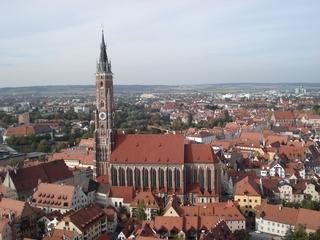 St. Martin, Landshut - Kirche, höchster Backsteinturm der Welt, Landshut, Niederbayern, Regierungsbezirk