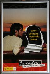 Plakat gegen Kokain - Drogenmissbrauch, Kokain, Prävention, Sucht, Suchtgefahr, spanisch, Kunst, Plakat, Protest