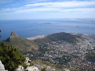 Kapstadt 4 - Tafelberg, Kapstadt, Aussicht, Stadtzentrum, Lions Head, Signal Hill, Atlantik, Südafrika, Gefängnisinsel, Nelson Mandela