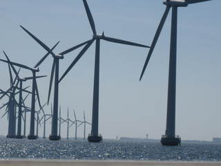 Windpark - Technisches Bauwerk, regenerative Energie, Windrad, Windpark, Energie, Energiegewinnung, Elektrizität, Kraftwerk, Windkraft, Windenergieanlage, Rotor, Strom, Perspektive