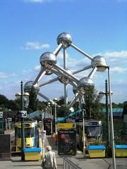 Atomium in Brüssel - Atomium, Eisenkristall, Weltausstellung, Brüssel, Kugel