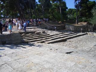 Palast von Knossos (5) - Knossos, Kreta, Griechenland, minoische Kultur, Theater, Steinstufen, Ruinen, Struktur