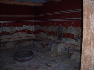 Palast von Knossos (2) - Knossos, Kreta, Griechenland, Minoische Kultur, König Minos, Thronsaal, Thron, Wandmalereien, Alabasterboden