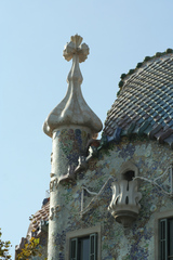 Casa Batlló - Türmchen - Gaudí, Barcelona, Modernismo, Pedrera, Gebäude, Modernismus, Modernisme Català, Katalonien, Jugendstil, Art nouveau, Architektur, florales Ornament, Bruchkeramik