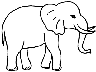 Elefant - Elefant, Dickhäuter, Rüssel, Stoßzahn, Anlaut E