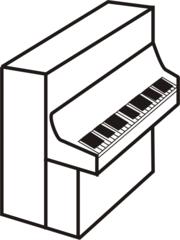 Klavier - Klavier, Instrument, Musik, Tasten, Tasteninstrument, Akustik, Anlaut K, Wörter mit v, Wörter mit ie