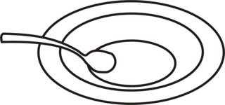 Suppenteller - Suppenteller, Suppe, Teller, essen, Anlaut T, Löffel, Wörter mit Doppelkonsonanten