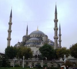 Sultan Ahmed Camii, Istanbul - Gebäude, Moschee, Türkei, Istanbul, Osmanisches Reich, Sultan Ahmed I, Religion, Weltreligion, Sakralbauten, hoch, Minarett