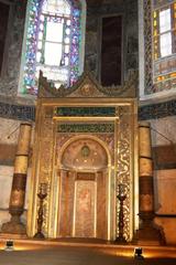 Hagia Sophia - Istanbul - Mihrab - Türkei, Istanbul, Osmanisches Reich, byzantinische Baukunst, Islam, Religion, Weltreligion, Kirche, Geschichte, Geografie