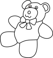 Teddy - Teddy, Bär, Spielzeug, Spielsachen, spielen, lieb, brummen, Anlaut T, Anlaut B, Illustration