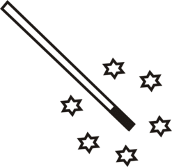 Zauberstab - Zauberstab, zaubern, Magie, verzaubern, Anlaut Z