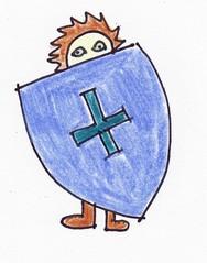 Redewendungen als Bilder #4 - Redewendung, Schild, führen, verstecken, hinterhältig, Hinterhalt, Geheimnis