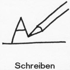 Piktogramm Schreiben - Piktogramm_Stundenplan, schreiben, Stift, Buchstabe