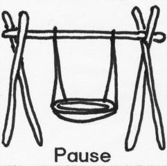 Piktogramm Pause - Piktogramm_Stundenplan, Pause, spielen, Schaukel