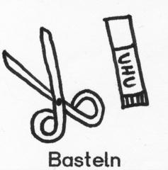 Piktogramm Basteln - Piktogramm_Stundenplan, basteln, Werken, Schere, Klebstift