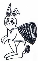 Osterhase - Ostern, Osterhase, Korb, Hase, Feiertage, Fest, Anlaut O