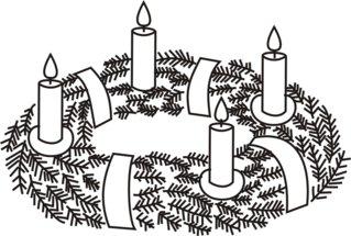 Adventskranz---4 - Advent, Adventszeit, Weihnachten, Vorweihnachtszeit, Adventssonntag, Adventskranz, Kerze, Kerzen, brennen, vier, vierte, Kranz, Licht, Anlaut A, Anlaut K, Wörter mit v